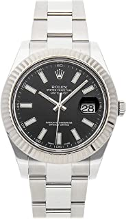 Rolex Datejust II Mechanical (Automatic) Black Dial Mens Watch 116334 (Certified Pre-Owned)