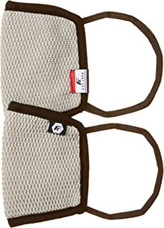 Fort Collins Unisex Cotton Face Mask (Pack of 2) (116_L.Grey_One Size)