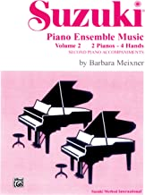 Suzuki Piano Ensemble Music for Piano Duo, Vol 2: Second Piano Accompaniments (Suzuki Piano School)