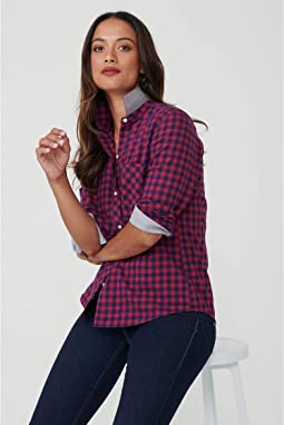 Navy/Red Check