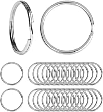 Beadnova Key Chain Ring Metal Split Ring for Dog Tag and Keys Organization (15mm, 100pcs)