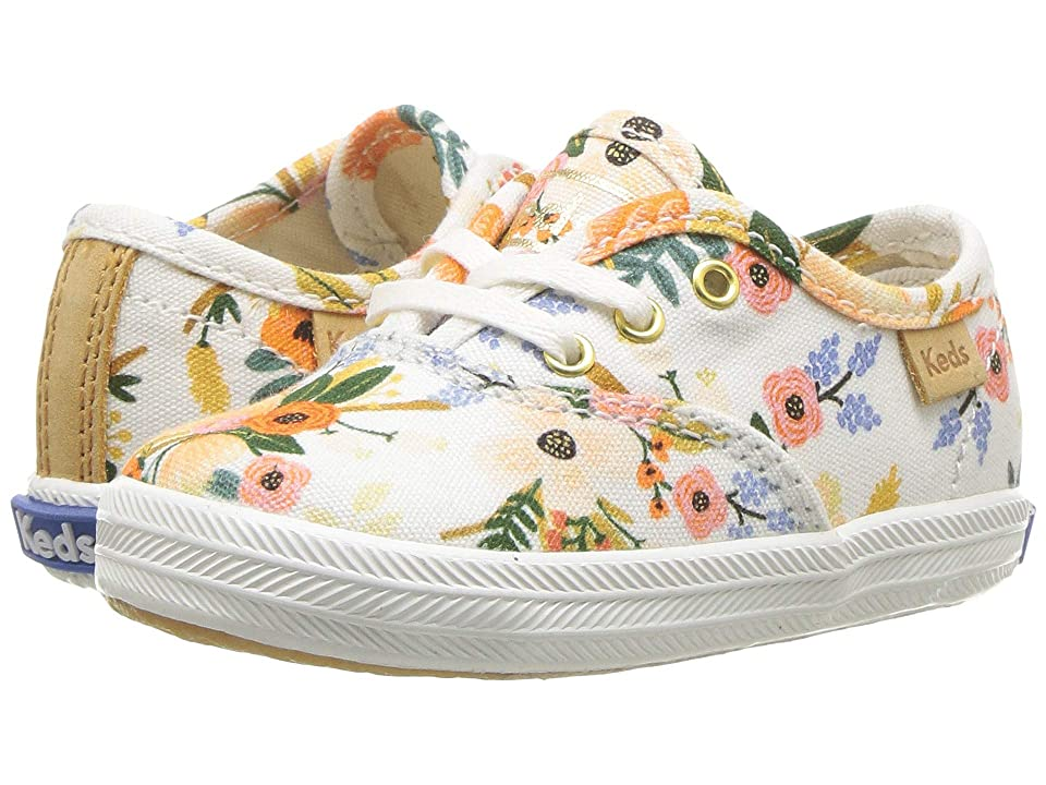 Keds x Rifle Paper Co. Kids Rifle Paper Champion Seasonal Crib (Infant/Toddler) (Lively White) Girls Shoes