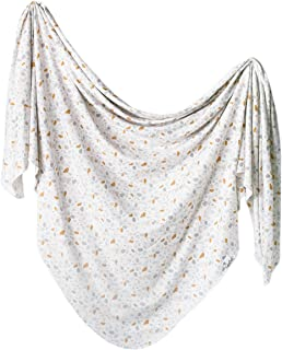 Large Premium Knit Baby Swaddle Receiving Blanket Arlo by Copper Pearl
