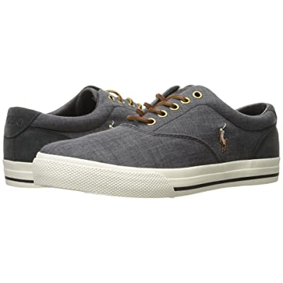 Polo Ralph Lauren Vaughn (Black/Dark Carbon Grey End Canvas/Sport Suede) Men