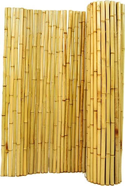 Natural Rolled Bamboo Fencing 1 D X 6 H X 8 L