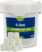 Rx Clear 1-Inch Stabilized Chlorine Tablets | Use As Bactericide, Algaecide, and Disinfectant in Swimming Pools and Spas |...