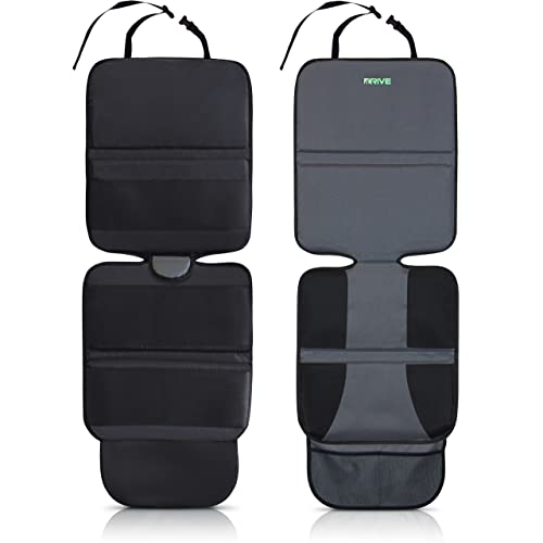 Drive Auto Products Car Seat Protectors (2-Pack, Old Dark Gray)