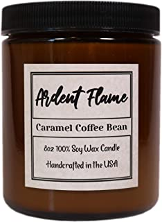 Ardent Flame Candles | Caramel Coffee Bean Candle | 100% Natural Soy Wax | Highly Scented | Hand Poured in The USA | 8 oz | Long Lasting | with Gift Box