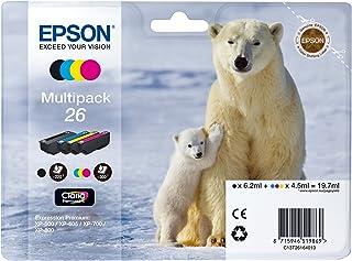 Epson 26 Serie Orso Polare Cartuccia Originale, Multipack, Standard, 4 Colori, con Amazon Dash Replenishment Ready