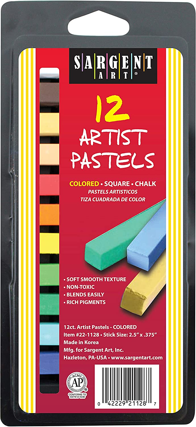 Sargent Art Ranking Max 41% OFF TOP20 22-1128 12-Count Square Pastels Color Assorted