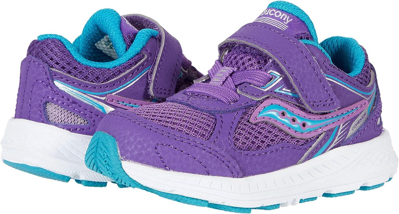Saucony Cohesion 14 Alternative Closure JR Running Shoe, Purple/Turq, 7.5 US Unisex Little Kid