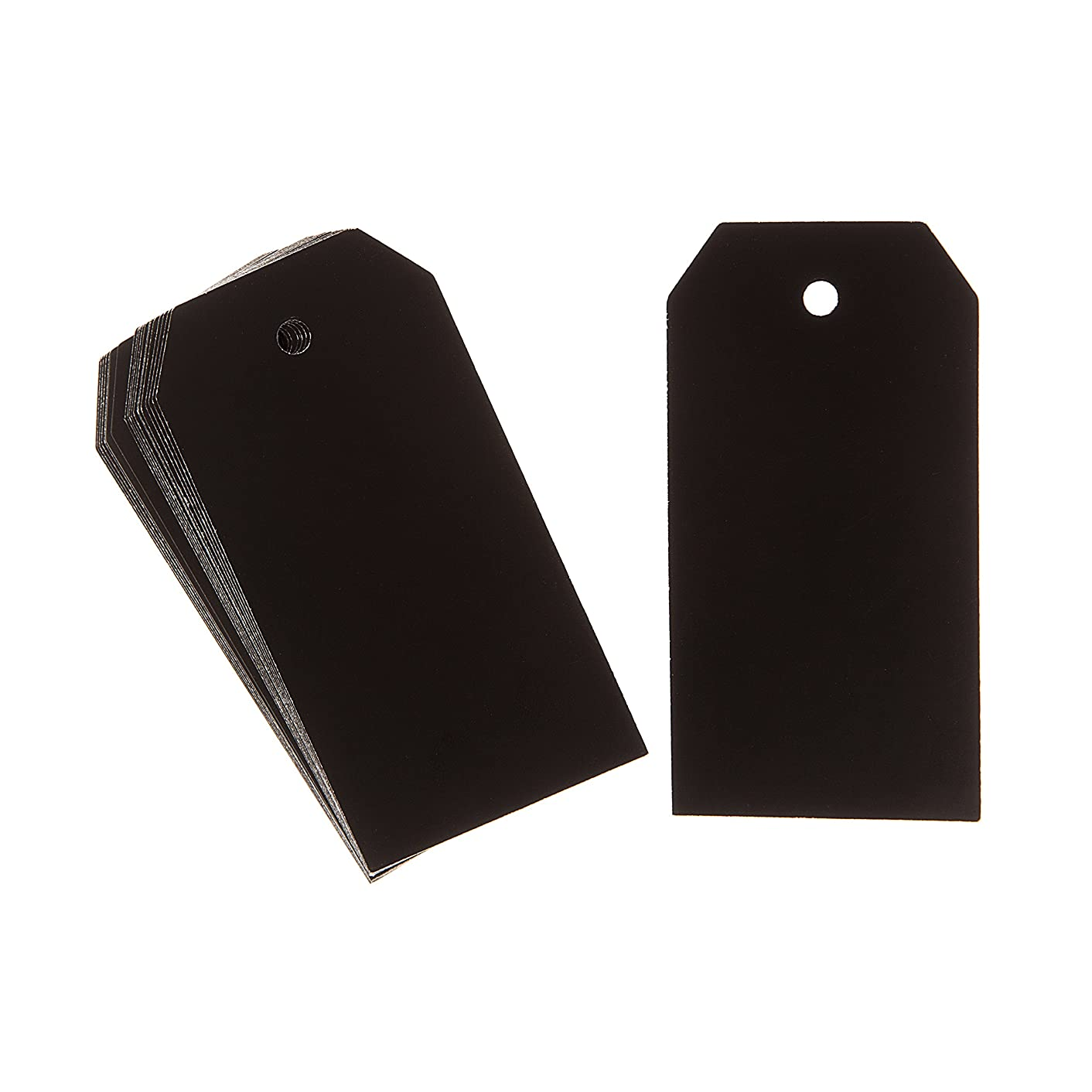 Darice Black Solid Paper Tags, 100 Piece