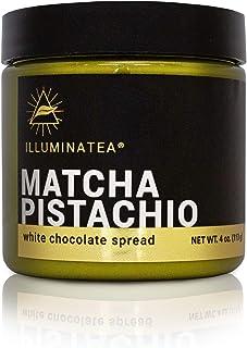 ILLUMINATEA Matcha Pistachio White Chocolate Spread (4oz)