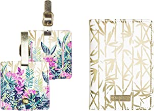 Lilly Pulitzer Travel Set, Leatherette Passport Cover/Holder/Wallet and 2 Luggage Tags, Slathouse
