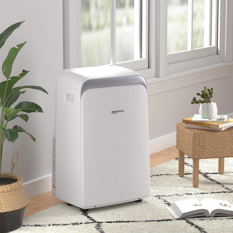 Basics Portable Air Conditioner with Remote 12,000 BTU ASHARE Cools 550 Square Feet 8000 BTU SACC