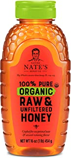 Nature Nate's 100% Pure Organic, Raw & Unfiltered, Squeeze Bottle; All-natural Sweetener, USDA Certified Organic, No Addit...