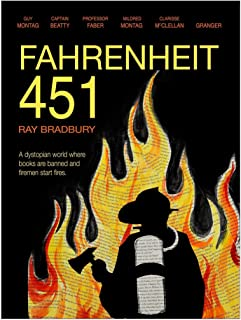 Fahrenheit 451 by Ray Bradbury, Classic Novel Literary Quote Print. Fine Art Paper, Laminated, or Framed. Multiple Sizes Available