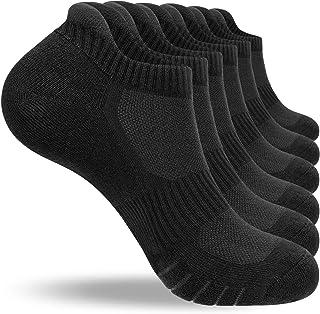 coskefy Running Socks Cushioned Sports Socks Ankle Socks Trainer Socks for Men Women Ladies Cotton Low Cut Athletic Socks...