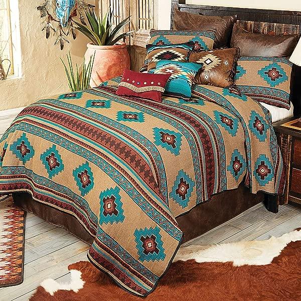 BLACK FOREST DECOR Sierra Vista Woven Bedspread King