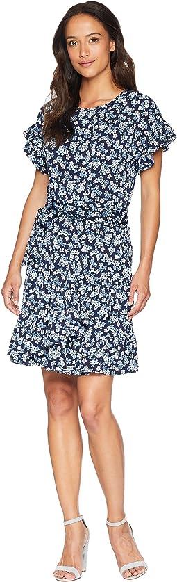 Cherry Ruffle Wrap Dress