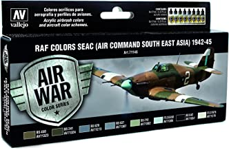 Vallejo RAF Colors SEAC (Air Command South East Asia) 1942-1945 'Air War Color Series' Model Paint Kit