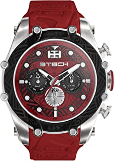 BTECH Unisex Tatto Tribal Analog Multifunction Movement Silicone Strap Band Wrist Watch