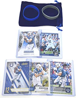 Andrew Luck Football Cards Assorted (5) Bundle - Indianapolis Colts Trading Cards