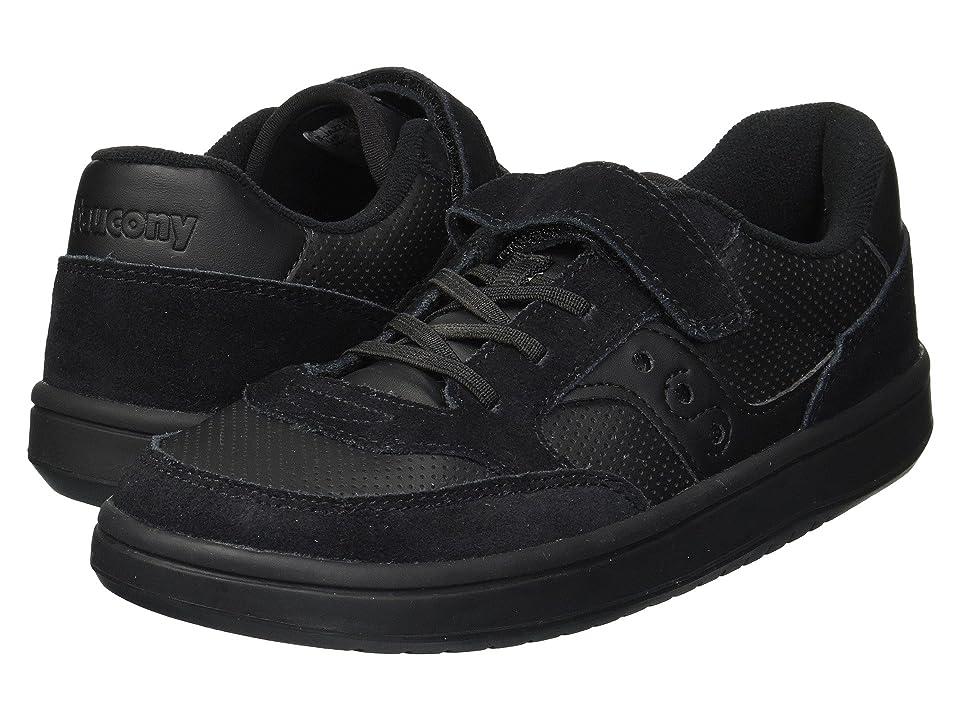 Saucony Kids Originals Jazz Court A/C (Little Kid) (Black/Black) Kids Shoes