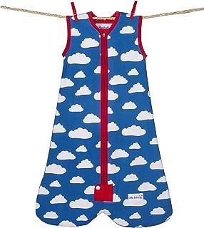 Little Fishkopp Organic Cotton Baby Sleep Sack, Clouds, 2.5 Tog, Blue, Small