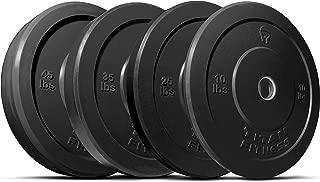 TITAN Fitness Black Bumper Plates