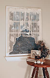 Curtain Chic Seashells Lace Swag, Ivory