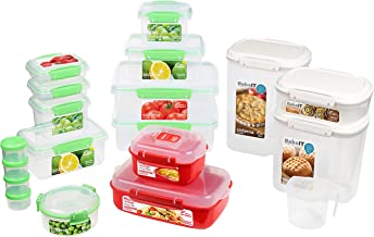 Sistema 82009 Kitchen Storage Solutions Starter Pack | 18 Food & Kitchen Storage Containers with Lids | Lunch Boxes, Meal ...