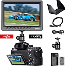 Neewer F100 7-inch 1280x800 IPS Screen Camera Field Monitor 4K HDMI Input output Video with 2600mAh Li-ion Battery,USB Charger For DSLR Mirrorless Camera GH5 SONY A7S II A6500 Canon 5D Mark IV