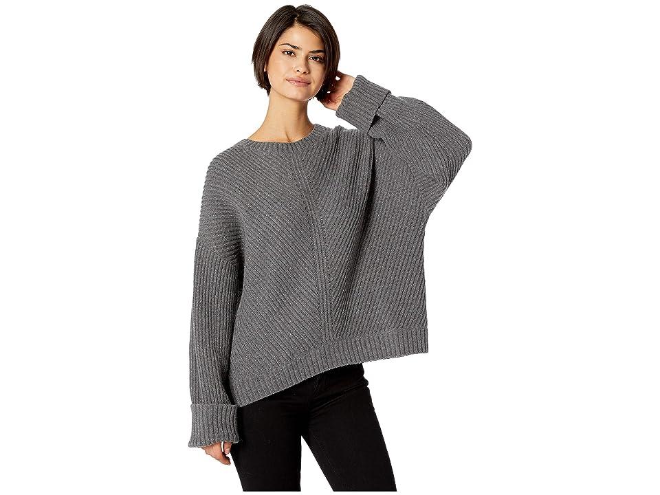 5461e09729 Splendid Sedona Wool Blend Sweater (Heather Cinder) Women s Sweater