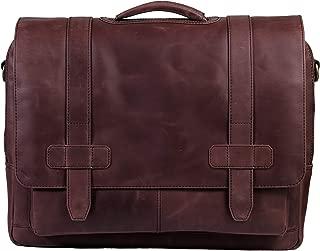Ladderback Leather Messenger Bag for Men, Logan, Laptop Briefcase Bag