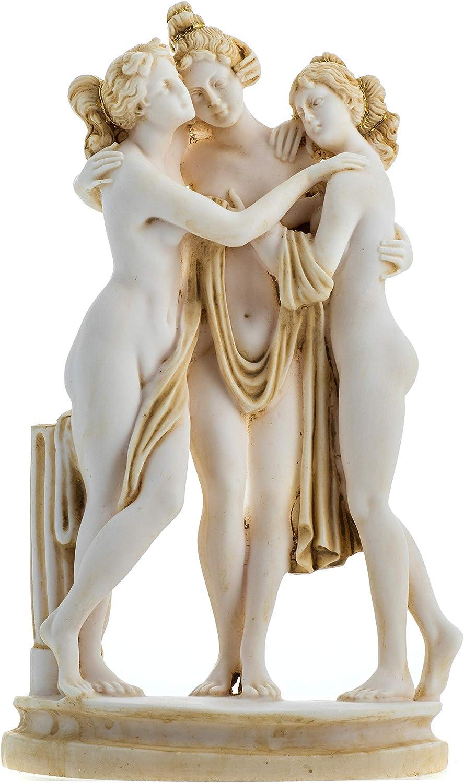 3 Phoenix Mall Graces Goddesses Canova Figurine Gold 9.84