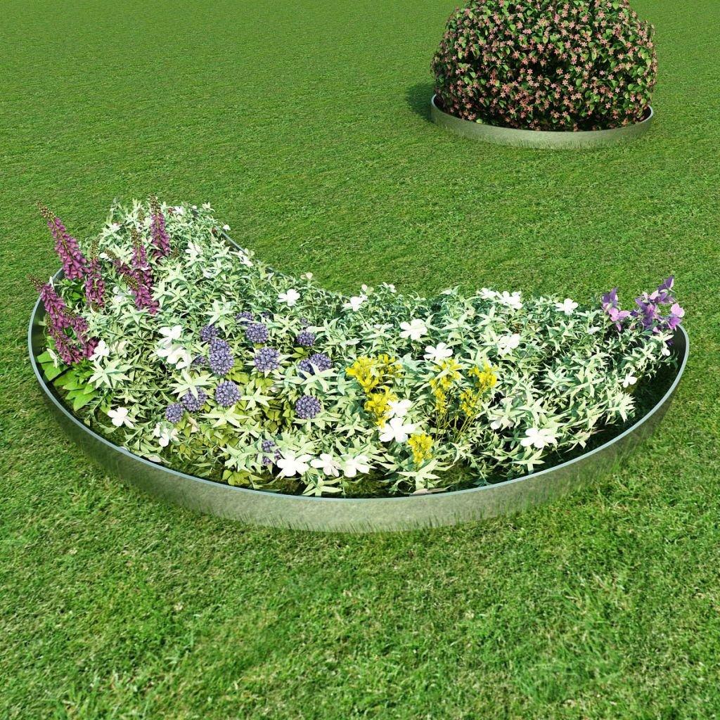 Festnight 20 Piezas-Cercas para El Césped -Cercado para Césped-Flexible Borde de Jardín-Acero Galvanizado 100x20 cm: Amazon.es: Jardín