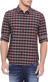 BASICS Slim Fit Born Red Checks Shirt