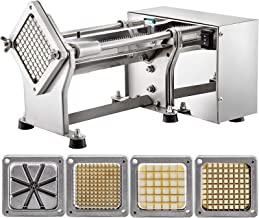 VEVOR Coupe-Frites Horizontale Machine Coupeur de Légumes Electrique de Terre pour Couper Légumes et Fruits