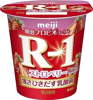 [冷蔵] 明治プロビオヨーグルトR-1 ストロベリー脂肪0 112g