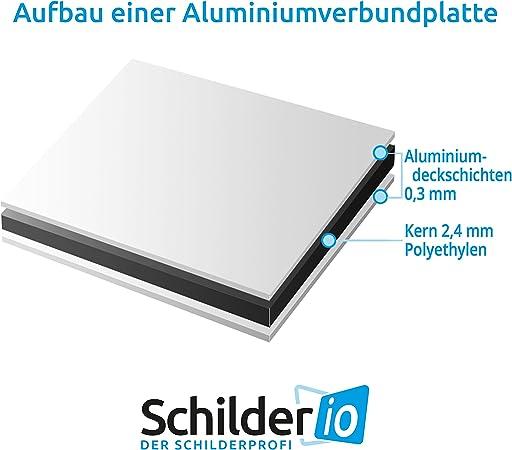 Schild Plakatieren Verboten Hinweisschild 300x200 Mm Gelb Querformat Stabile Aluminiumverbundplatte 3mm Stark Baumarkt