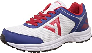 Seven Men's Trident White, Blue and Red Running Shoes - 11 UK/India (45 EU)
