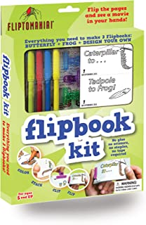 Fliptomania Flipbook Animation Kit - Butterfly & Frog
