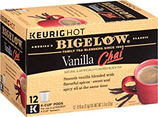 Bigelow Vanilla Chai Tea Keurig K-Cups, Box of 12 Cups (Pack of 6), 72 Tea Bags Total. , Single Serve Portion Premium Tea in Pods, Compatible with Keurig and other K Cup Coffee and Tea Brewers