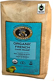 Jeremiah's Pick Coffee Organic French Roast Whole Bean Coffee, 2 lbs (Pack of 2)