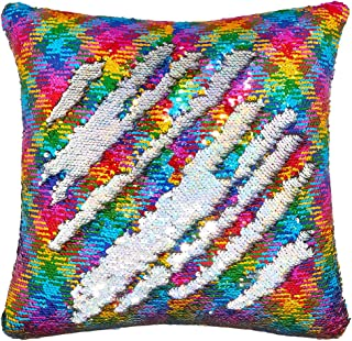 Play Tailor Mermaid Sequin Pillow Case Flip Sequin Pillow Cover Reversible Sequins Throw Cushion Cover 16