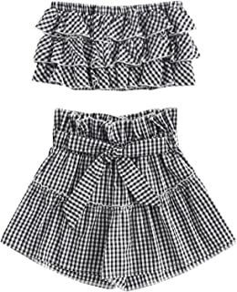 Best gingham crop top and shorts Reviews