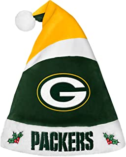 FOCO Forever Collectibles 9016323891 Green Bay Packers Basic Santa Hat - 2016