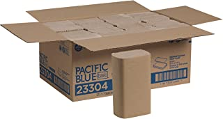 Pacific Blue Basic Recycled Multifold Paper Towels (Previously branded Envision) by GP PRO (Georgia-Pacific), Brown, 23304, 250 Towels Per Pack, 16 Packs Per Case