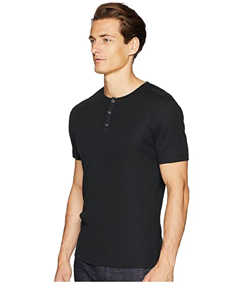 John Varvatos Collection Short Sleeve Variegated Rib Henley K2102u2